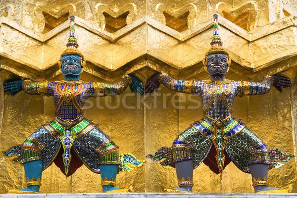 Guardião arte dentro palácio Bangkok Tailândia Foto stock © rognar