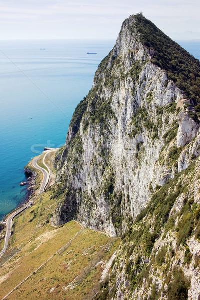 Gibraltar rock wysoki morza południowy Zdjęcia stock © rognar