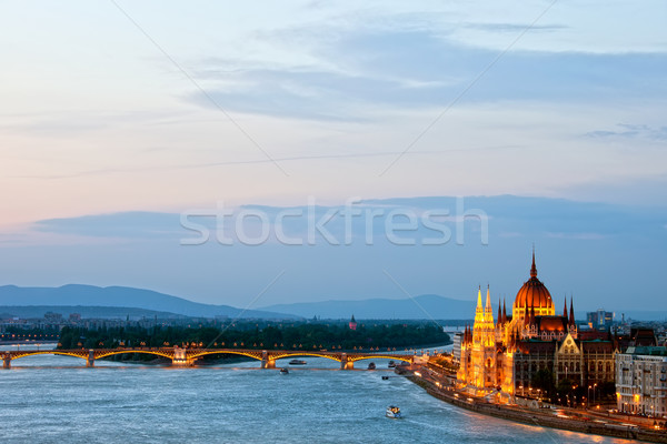 Budapest at Dusk Stock photo © rognar