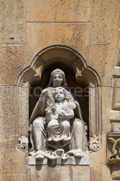 Kaplica rzeźba Budapeszt kamień Węgry dziecko Zdjęcia stock © rognar