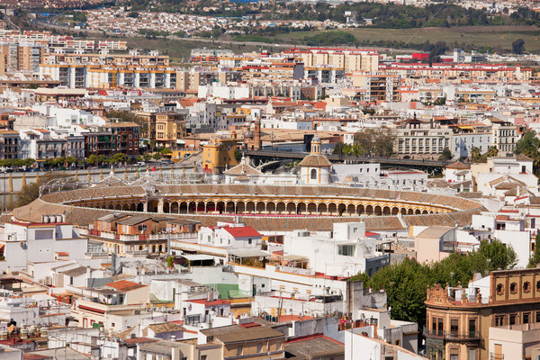 City of Seville Cityscape in Spain Stock photo © rognar