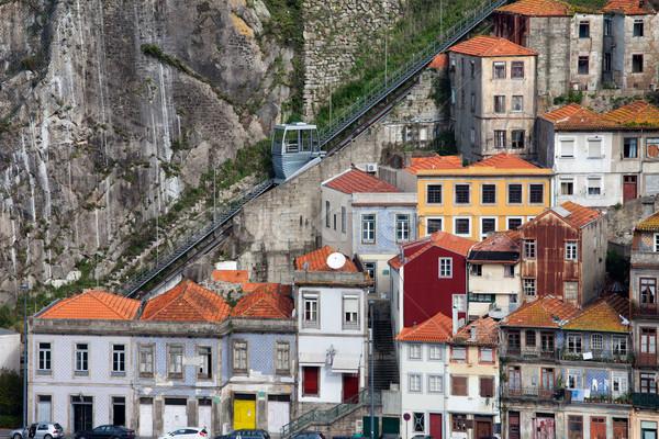 Malowniczy domów historyczny miasta centrum domu Zdjęcia stock © rognar