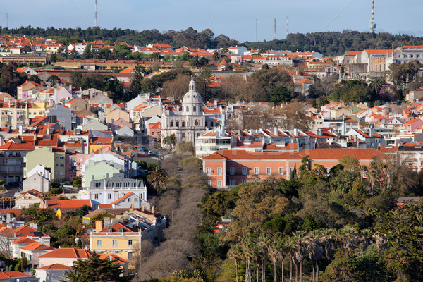 Belem District in Lisbon Stock photo © rognar