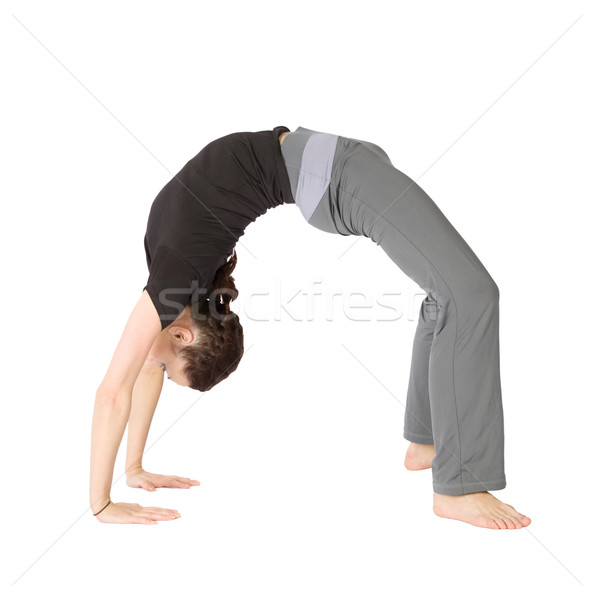 Woman in Bridge Stretching Pose Stock photo © rognar