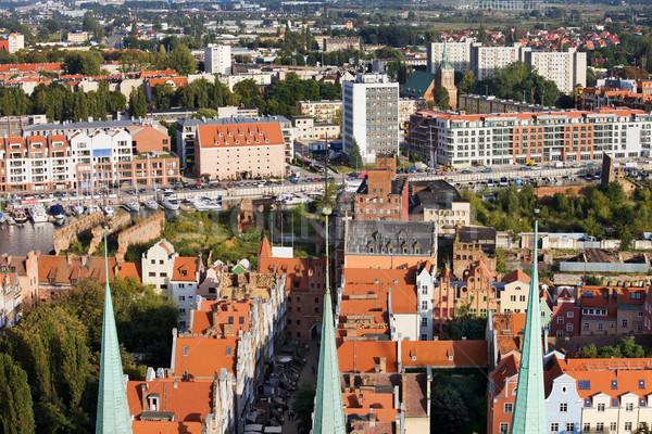 Danzica cityscape Polonia casa costruzione Foto d'archivio © rognar