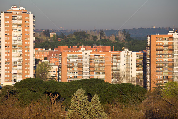 Block of Flats in Madrid Stock photo © rognar