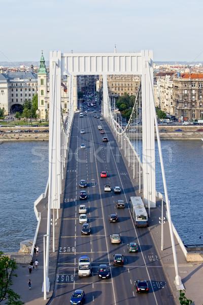 Budapest Traffic on Elizabeth Bridge Stock photo © rognar