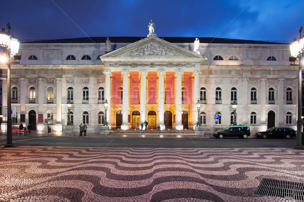劇場 1泊 リスボン 表示 広場 ポルトガル ストックフォト © rognar