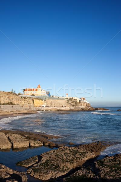 Estoril Coastline by the Atlantic Ocean in Portugal. Stock photo © rognar
