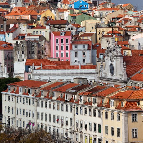 住宅 市 リスボン ポルトガル 古い 歴史的 ストックフォト © rognar