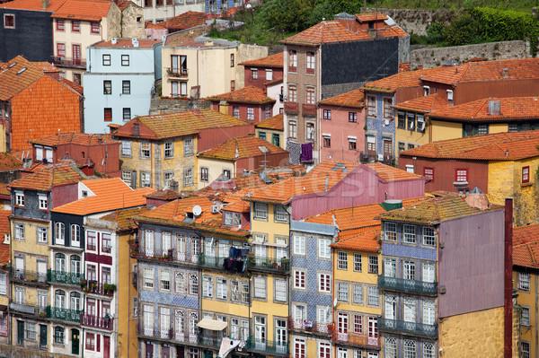 Casas Portugal edad pintoresco histórico ciudad Foto stock © rognar
