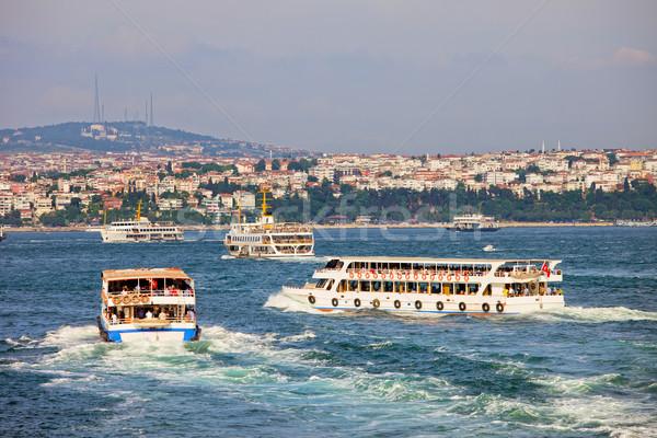 Passenger Boats on Bosphorus Strait Stock photo © rognar