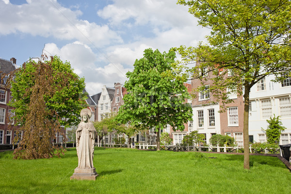 Begijnhof Courtyard in Amsterdam Stock photo © rognar