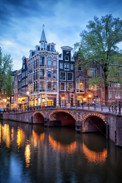 Evening in Amsterdam Stock photo © rognar