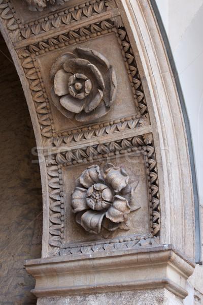 Flowers Carvings Stock photo © rognar