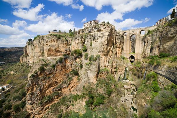 Kövek festői díszlet Andalúzia régió Spanyolország Stock fotó © rognar
