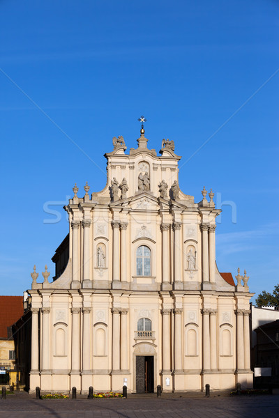 St Anne's Church in Warsaw Stock photo © rognar