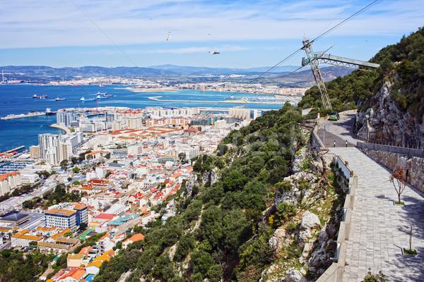 Gibraltar Cityscape malowniczy dekoracje wody Zdjęcia stock © rognar