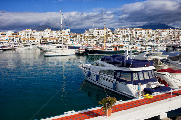 Spanyolország híres marina Andalúzia régió Malaga Stock fotó © rognar