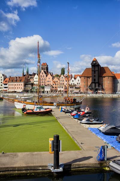 Marina città vecchia danzica skyline fiume Polonia Foto d'archivio © rognar