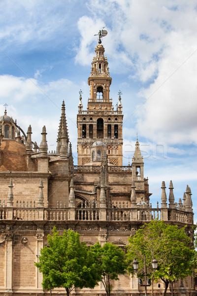 Gothic Seville Cathedral in Spain Stock photo © rognar