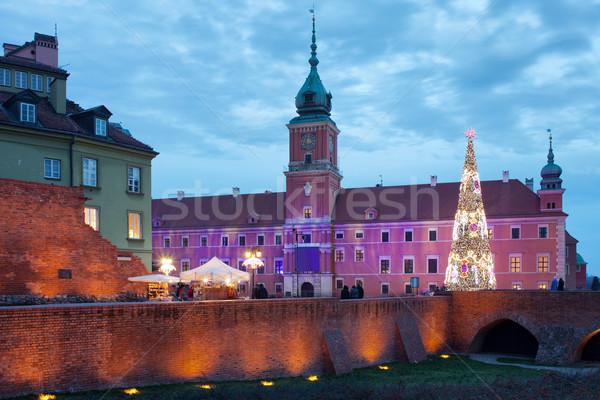 ロイヤル 宮殿 旧市街 ワルシャワ ポーランド クリスマス ストックフォト © rognar