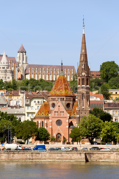 Buda Reformed Church in Budapest Stock photo © rognar