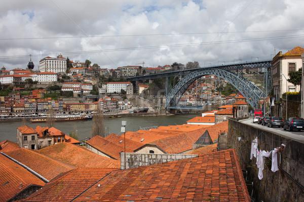 Stockfoto: Oude · stad · Portugal · pittoreske · brug