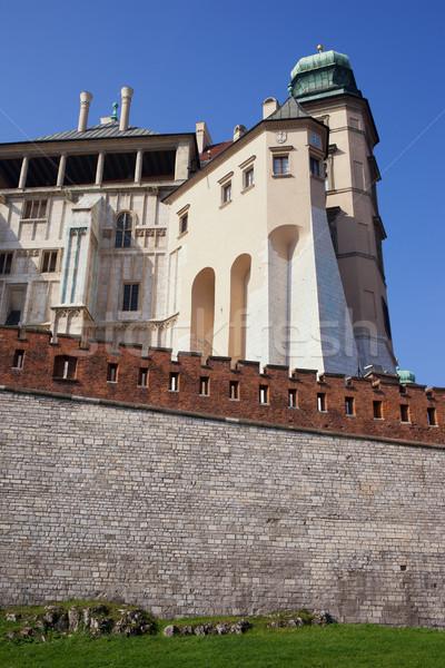 Pie torre castillo cracovia Polonia real Foto stock © rognar