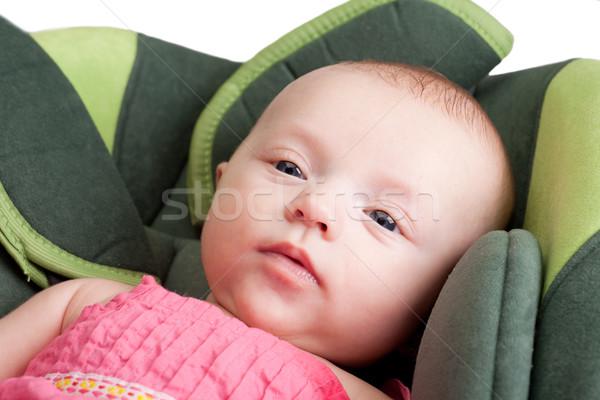 Baby Girl in Car Seat Stock photo © rognar