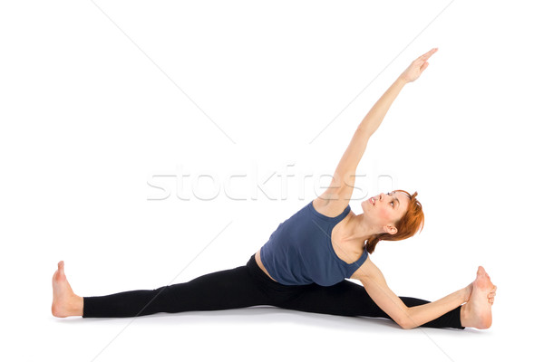 Woman doing Yoga Exercise Stock photo © rognar