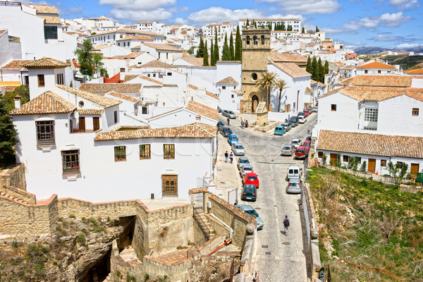 Ronda Town in Andalusia Stock photo © rognar
