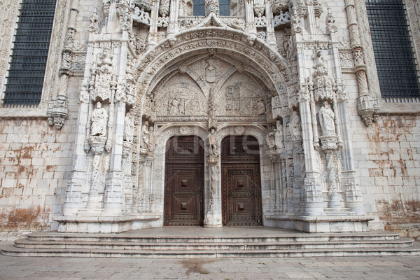 South Portal to Jeronimos Monastery in Lisbon Stock photo © rognar