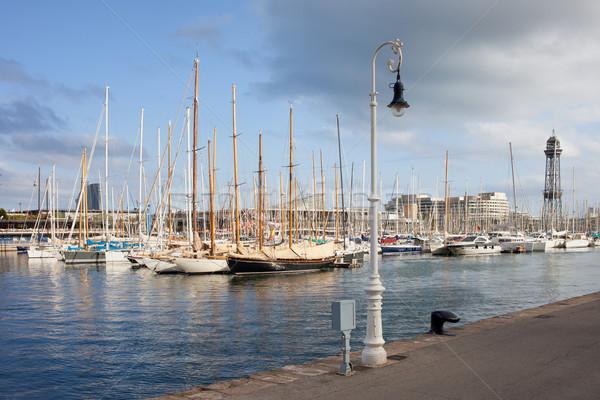 Port Vell Marina in Barcelona Stock photo © rognar