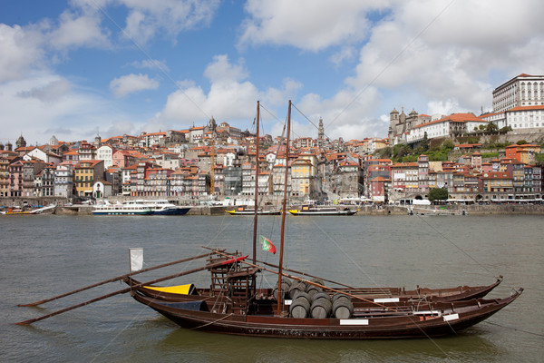 Stockfoto: Stadsgezicht · Portugal · stad · traditioneel · vracht · boot