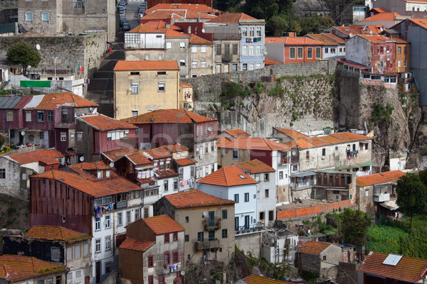 Houses in the Old Town of Porto in Portugal Stock photo © rognar