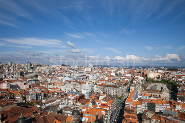 City of Oporto in Portugal from Above Stock photo © rognar