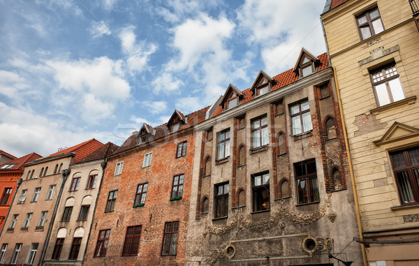Historic Tenement Houses in Torun Old Town Stock photo © rognar