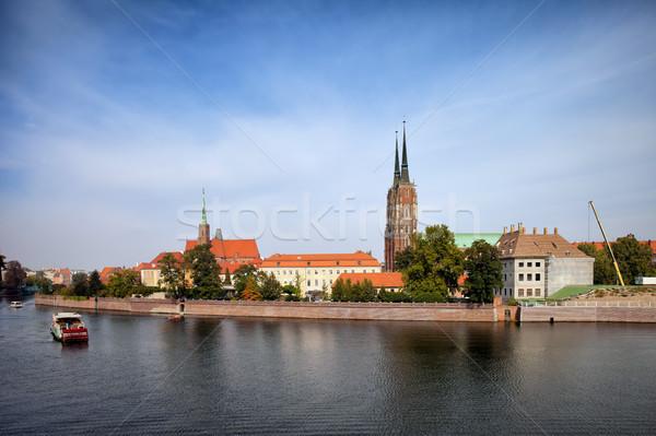 スカイライン ポーランド 市 川 水辺 旅行 ストックフォト © rognar
