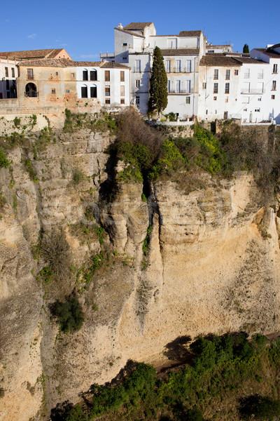 ストックフォト: 住宅 · 崖 · 高い · 家 · 市 · 壁