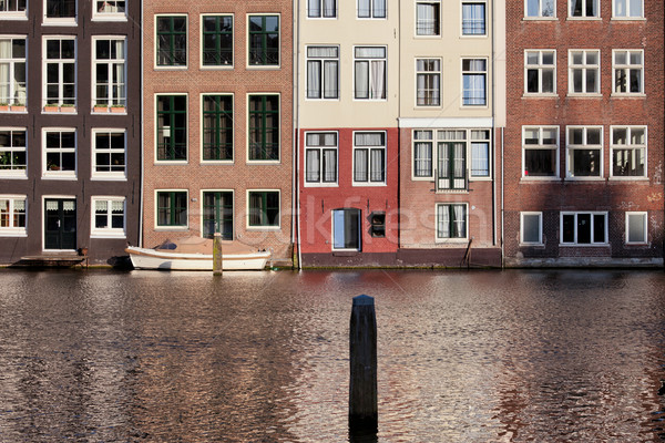 Houses on Water in Amsterdam Netherland Stock photo © rognar