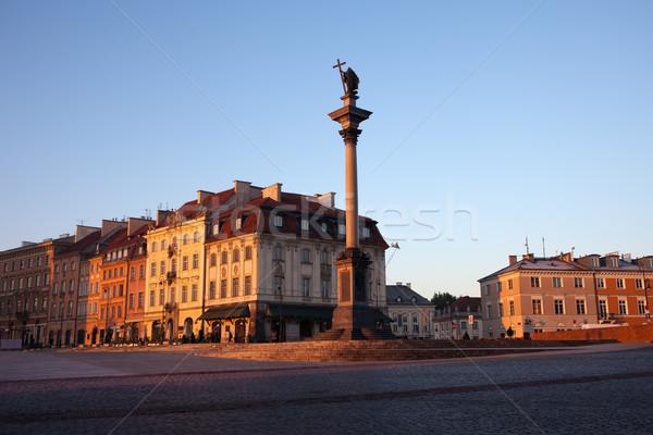 Восход Варшава царя колонки старый город квадратный Сток-фото © rognar