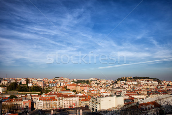 City of Lisbon at Sunset Stock photo © rognar