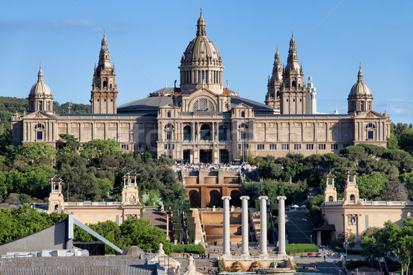National Art Museum of Catalonia at Montjuic in Barcelona Stock photo © rognar