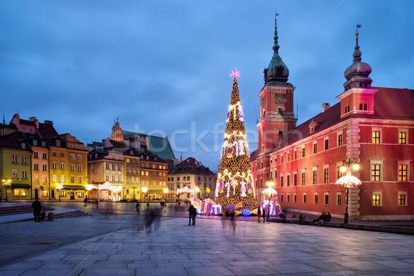Рождества старый город город ночь королевский замок Сток-фото © rognar