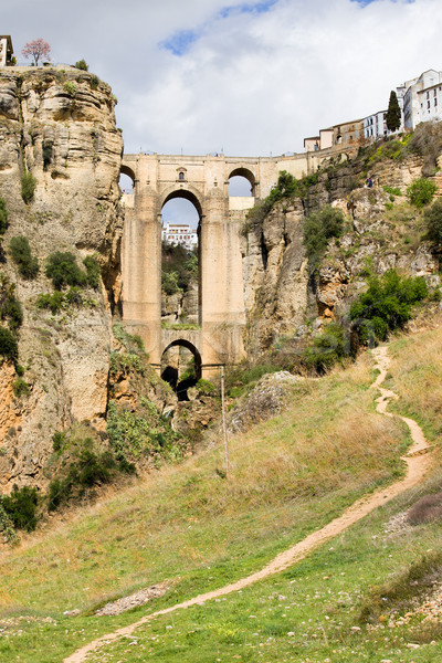 橋 アンダルシア 草原 新しい スペイン語 ストックフォト © rognar