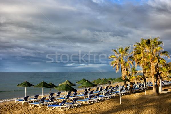 Tengerpart népszerű üdülőhely Spanyolország Andalúzia régió Stock fotó © rognar