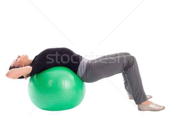 Stock photo: Woman with Gym Ball Doing Situps Exercise
