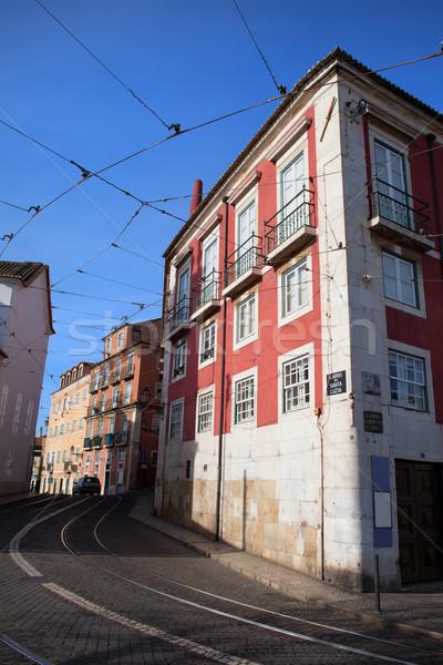住宅 地区 リスボン サンタクロース ポルトガル 家 ストックフォト © rognar