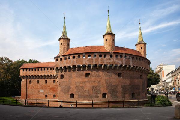 Краков Польша крепость старые город стены Сток-фото © rognar